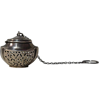 Sterling Tea Ball Tea Strainer Urn Shape