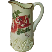Custard Glass Water Pitcher Diamond with Peg by Jefferson