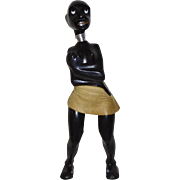 Corkscrew Nut Cracker combo Carved Black African Woman Lancel, Paris