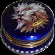 Enamel Patch or Snuff Box Dog Portrait
