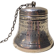Sterling Tea Strainer Phila. Liberty Bell  Figural