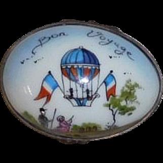 Limoges Egg Shaped Box Hot Air Balloon