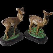 Hubley Doe Deer Cast Iron Bookends
