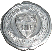 Hatpin Cornell University Sterling silver c. 1910