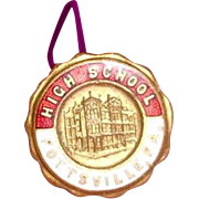 Hatpin Pottsville Pa. High School c. 1900