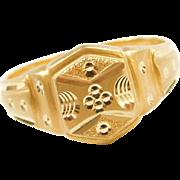 Vintage 20k Baht Gold Ring