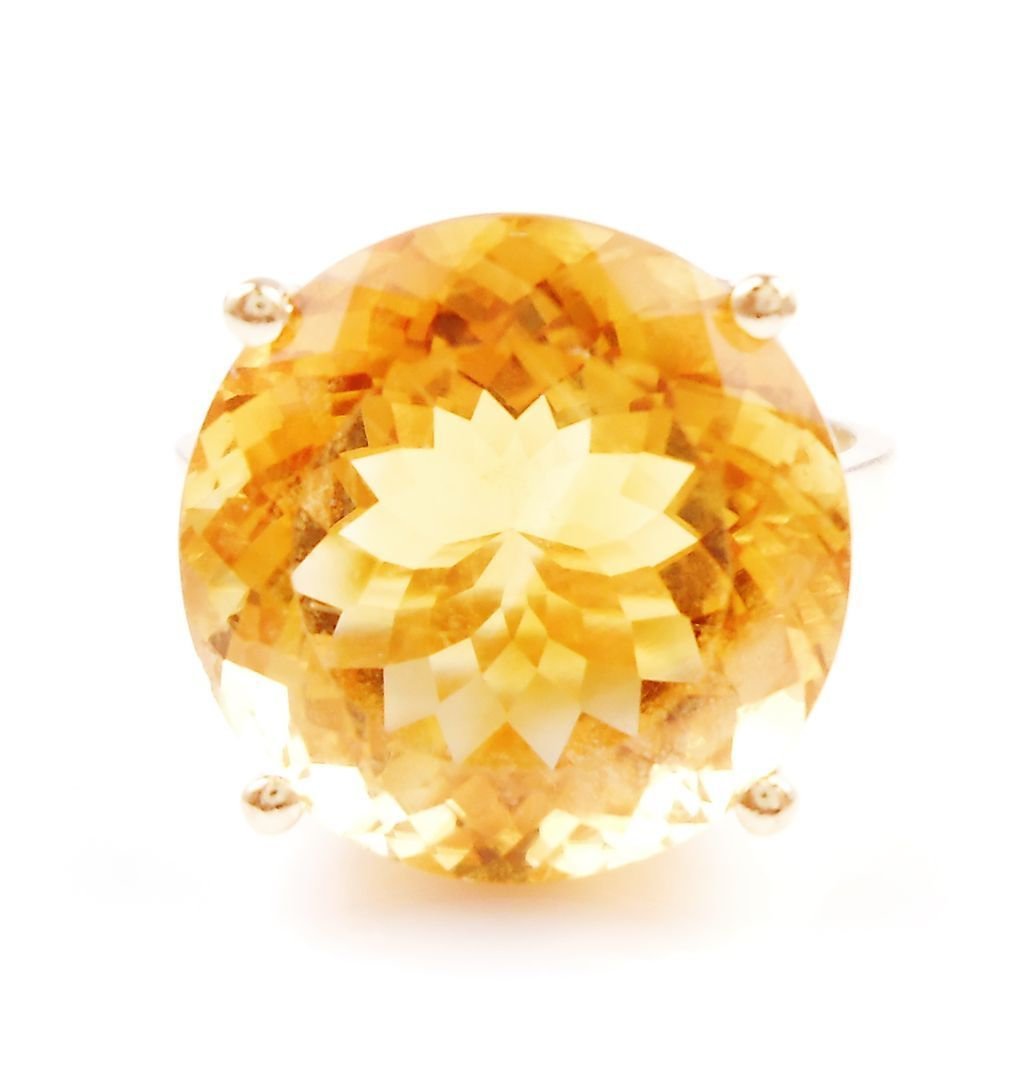Citrine Ring Solitaire