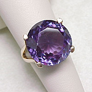 Impressive 20 Carat ALEXANDRITE Ring 14K Yellow Gold