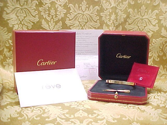 Exquisite Cartier 18k Yellow Gold Love Bracelet Circa 1980 S Arnold Jewelers Ruby Lane