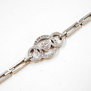 EDWARDIAN Diamond Bracelet 14K Yellow Gold & Platinum