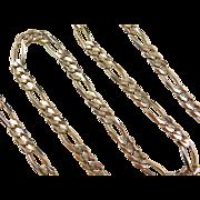 "Vintage 10k Gold Figaro Link Chain ~ 18 3/4"" ~ 19.9 Grams"