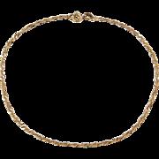 """Vintage 18k Gold Singapore Bracelet / Anklet ~ 8 3/4"""""""
