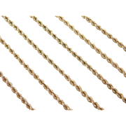 """Vintage 14k Gold LONG Rope Chain ~ 24"""" ~ 13.1 Grams"""
