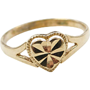 Vintage 14k Gold Heart Ring