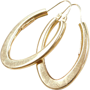 Vintage 18k Gold Hoop Earrings