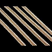 "Vintage 14k Gold Long Curb Link Chain ~ 24 1/2"" ~ 25.9 Grams"