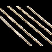 "Vintage 18k Gold Long Serpentine Chain ~ 24"" ~ 8.4 Grams"