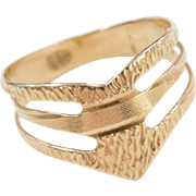 Vintage 18k Gold Wide Ring