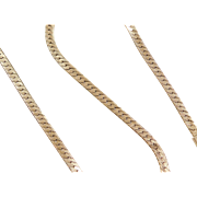 "Vintage 14k Gold Flat Chain ~ 17"" ~ 23.9 Grams"