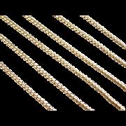"""Vintage 18k Gold Serpentine Chain ~ 20 1/4"""" ~ 8.1 Grams"""