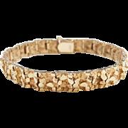 """Vintage 14k Gold Men's Nugget Bracelet ~ 7 1/4"""""""
