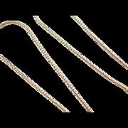 "Vintage 14k Gold Popcorn Chain ~ 15 3/4"" ~ 3.6 Grams"