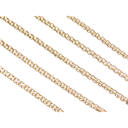 "Vintage 18k Gold Long Flat Chain ~ 24"" ~ 7.8 Grams"