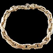 """Vintage 14k Gold Gents Link Bracelet ~ 8 1/4"""""""