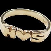Vintage 14k Gold HS Ring