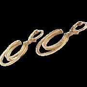 Vintage 14k Gold Earrings ~ Lever Backs