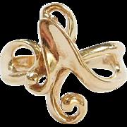 Vintage 14k Gold Swirl Ring