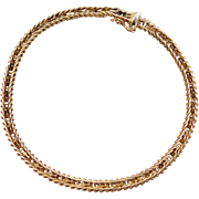 """Vintage 14k Gold Bracelet ~ 7 5/8"""""""