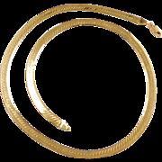 """Vintage 14k Gold Herringbone Chain ~ 20"""" ~ 19.5 Grams"""