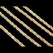"Vintage 14k Gold Singapore Chain ~ 20"" ~ 3.1 Grams"