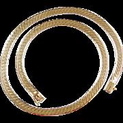 "Vintage 14k Gold Flat Chain 18"" ~ 27.9 Grams"