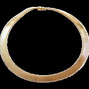 "Vintage 18k Gold Collar Necklace ~ 16 1/2"" ~74.8 Grams"