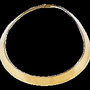 """Vintage 14k Gold Wide Collar Necklace ~ 16 1/2"""" ~ 74.9 Grams"""