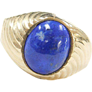 Vintage 14k Gold Lapis Ring Men's