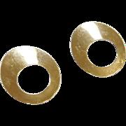 Vintage 14k Gold Circle Earrings