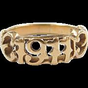 Vintage 14k Gold 1911 Ring