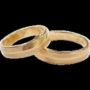 Vintage 14k Gold Matching Wedding Rings