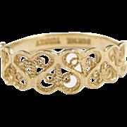 Vintage 14k Gold Filigree Ring