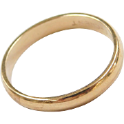 Vintage 14k Gold Wedding Band Ring