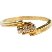 Vintage 18k Gold Faux Diamond Ring