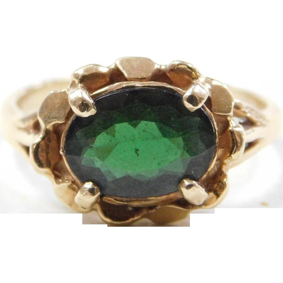 vintage 14k gold green tourmaline ring from arnoldjewelers