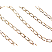 "Vintage 14k Gold Link Chain 20"" - 29 1/2"" Or Chain and Matching Bracelet Set"