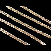 "Vintage 14k Gold Snail Chain ~ 20"""