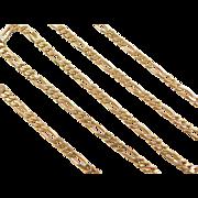 "Vintage 14k Gold Figaro Link Chain ~ 16"" ~ 6.9 Grams"