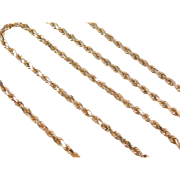 "Vintage 14k Gold Diamond Cut Rope Chain ~ 20"" ~"