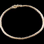 """Vintage 14k Gold Serpentine Bracelet ~ 6 3/4"""""""